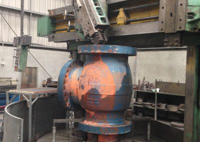 Machining 600mm valve housings