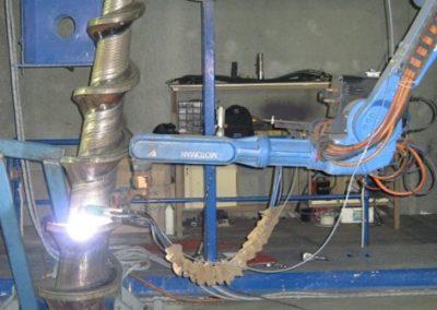 Robotic Hardfacing of Dewatering Screws