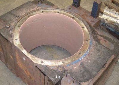 Bearing Chock Refurbishment by Metal Spray