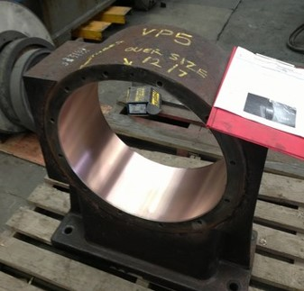 Bearing Chock Refurbishment by Metal Spray