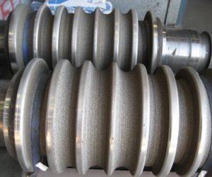 Grip coatings for the steel industry