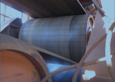 Pulley polyurethane lagging