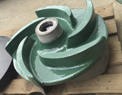 Repaired impeller with Loctite composites