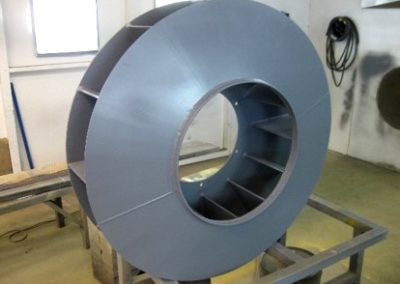 Hardfaced cement industry extraction fan