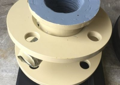 Hardfaced pipes are available down to 50mm diameter