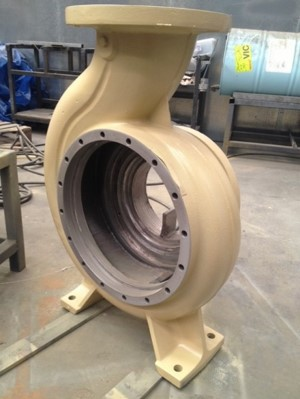 Volute pump repair using Loctite Composites