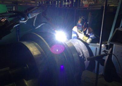 Automated pump hardfacing
