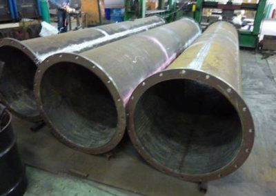 Chrome carbide weld overlay AbrasaPipe