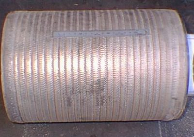 Tungsten carbide PTA weld overlayed pump sleeve
