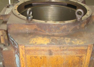 Bearing chock ready for repair