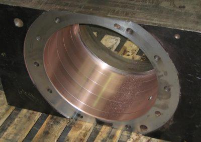 Repaired steel industry bearing chock
