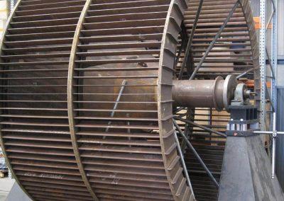 Cement industry classifier fan