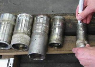Worn out pump sleeves can be repaired by metal spray