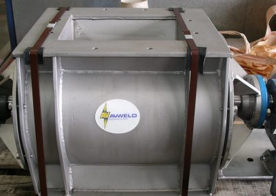 Stainless Steel rotary valve manufactured by Avweld for the mining industry