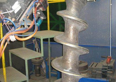 Tungsten carbide coated dewatering screw