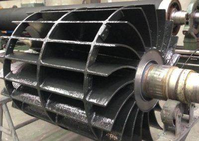 Vacuum Pump rotor coated with Loctite Sprayable Ceramic