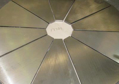 Wood chipper wear plate hardfacing