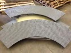 AbrasaPlate-X cross hatch wear liners ready for installation