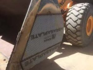 Bucket protection using AbrasaPlate-X chrome carbide wear plate