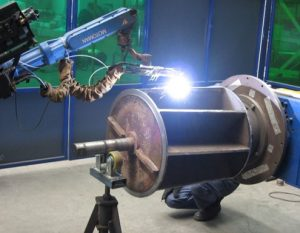Robotic PTA welding of a Rotor
