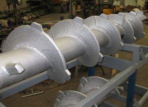 Robotic Hardfacing of Bark Transfer Screws with Tungsten Carbide