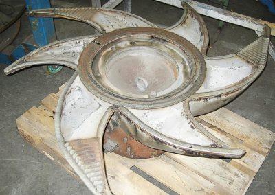 Pulper Rotor Hardfacing