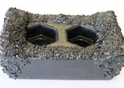 Shredder hammer coated with bulk Tungsten Carbide