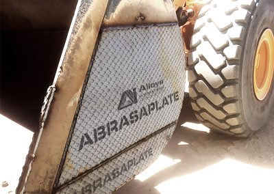 Bucket with AbrasaPlate X Wear Plate